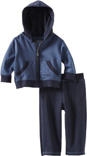 Kenneth Cole Baby-Boys Infant Hooded Jog Set