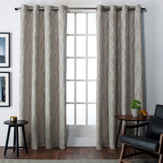 Exclusive Home Finesse Jacquard Window Curtain Pair