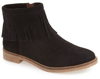 Women's Lucky Brand 'Galley' Fringe Collar Bootie $108.95 thestylecure.com