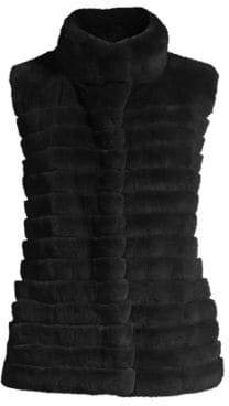 Glamour Puss Glamourpuss Rabbit Fur Vest