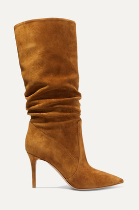 Gianvito Rossi 85 Suede Knee Boots - Tan