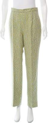 Christian Dior High-Rise Tweed Pants