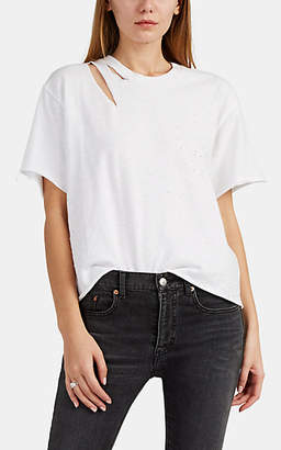 Amiri Women's Slash Cotton T-Shirt - White