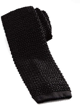 Charvet Knit Silk Tie, Black