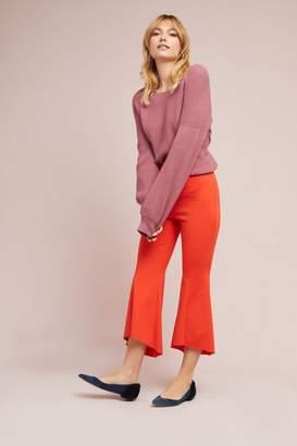 Anthropologie Mavis Soft Ruffle Trousers