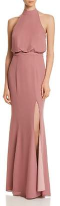 LIKELY Cameron Mock-Neck Mermaid Gown