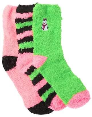 Betsey Johnson Cozy Crew Socks Holiday Gift Box Set - Pack of 3
