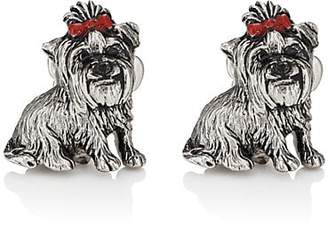 Barneys New York MEN'S YORKIE CUFFLINKS - SILVER