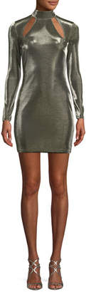 Misha Tamika Cutout Long-Sleeve Minidress