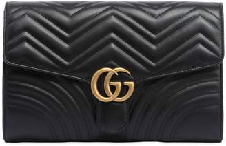 Gucci Gg Marmont 2.0 Leather Clutch