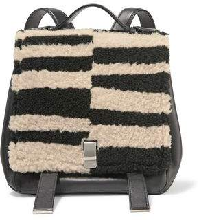 Proenza Schouler Courier Striped Shearling And Leather Backpack