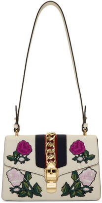 Gucci White Small Sylvie Shoulder Bag