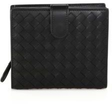 Bottega Veneta Bottega Veneta Woven Leather Bi-Fold Wallet