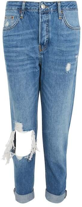 TopshopTopshop Moto busted knee blue hayden jeans