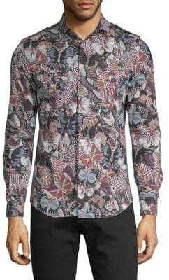 Valentino Butterfly-Print Cotton Shirt