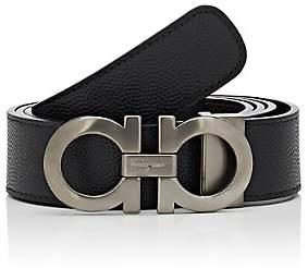 Salvatore Ferragamo Men's Double Gancini-Buckle Reversible Leather Belt-Black