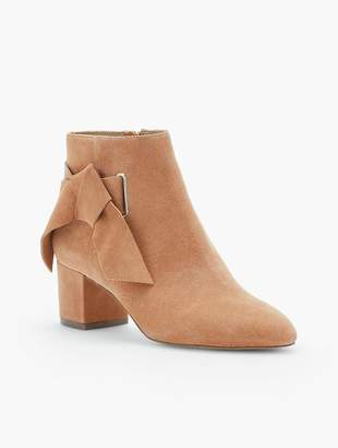Talbots Maud Suede Side-Bow Booties