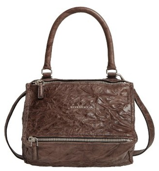 Givenchy 'Small Pepe Pandora' Leather Shoulder Bag - Grey $1,750 thestylecure.com