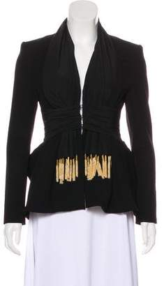 Altuzarra Fringe-Accented Evening Jacket