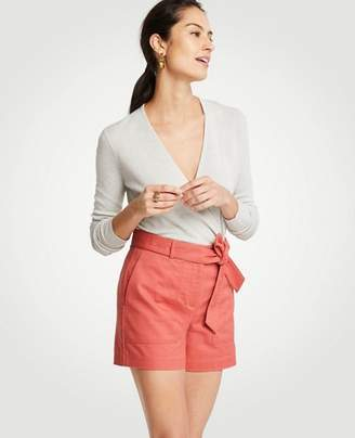 Ann Taylor Belted Cargo Shorts