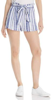 Aqua Paperbag-Waist Striped Shorts - 100% Exclusive