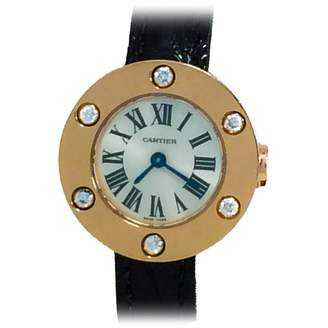 Cartier Carter Love Watch In 18k Rose Gold W/ 6 Diamonds, Ref We800531, Retails $7950
