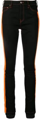 Palm Angels side stripe skinny jeans