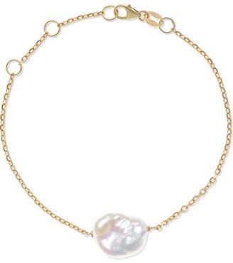 Natasha Schweitzer - Baroque 9-karat Gold Pearl Bracelet