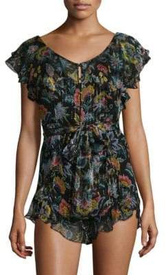 Alice McCall Tiny Dancer Sheer Floral Playsuit