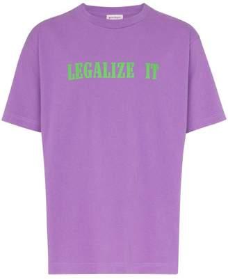 Palm Angels Legalize it print cotton t shirt