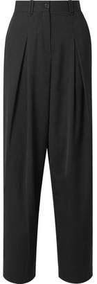 McQ Pleated Twill Straight-leg Pants - Black