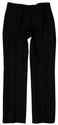 Calvin Klein Collection Flat Front Wool-Blend Pants