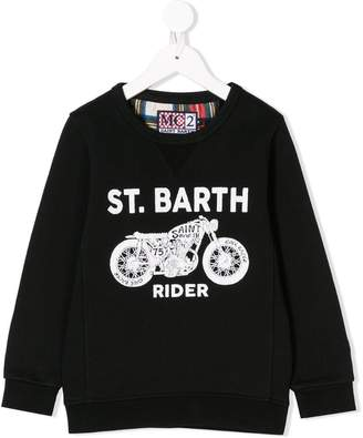 MC2 Saint Barth Kids logo print sweatshirt