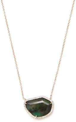 Monique Péan Diamond, Emerald & White Gold Necklace - Womens - Green