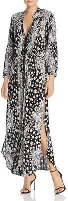 Poupette St. Barth Ilona Printed Long Sleeve Maxi Dress