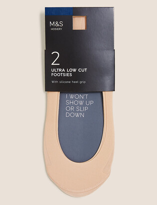 Marks and Spencer 2 Pair Pack Ultra Low Cut Footsies