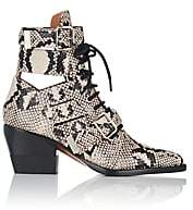 Chloé Women's Rylee Double Buckle Leather Ankle Boots - Gray