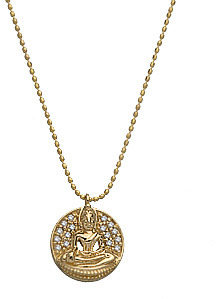 Sydney Evan Buddha Disk Necklace