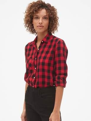 Gap Drapey Plaid Flannel Pocket Shirt