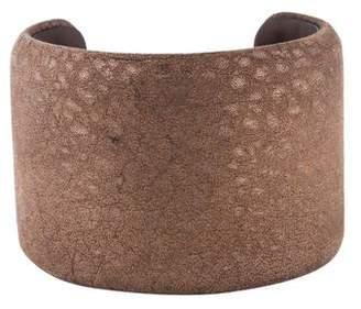 Brunello Cucinelli Crackled Leather Cuff