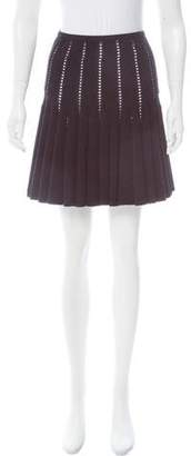 Alaia Fit and Flare Mini Skirt
