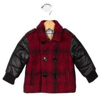 John Galliano Boys' Plaid Wool Coat