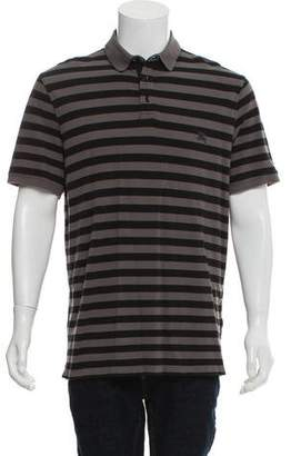 Burberry Striped Henley Polo T-Shirt