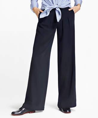 Brooks Brothers Matte Satin Wide-Leg Pants