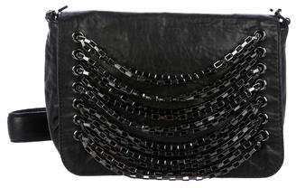 Tory Burch Chain-Link Leather Shoulder Bag