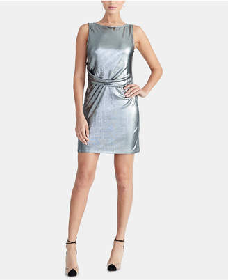 Rachel Roy Iggy Draped Metallic Dress