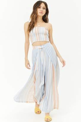 Forever 21 Striped Tube Top & Pant Set