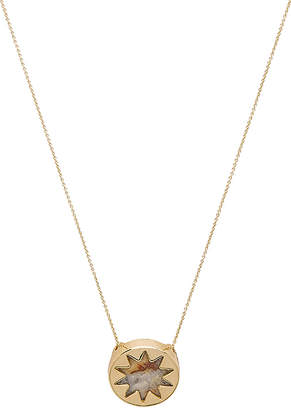 House of Harlow 1960 Mini Sunburst Pendant Necklace in Metallic Gold. $58 thestylecure.com