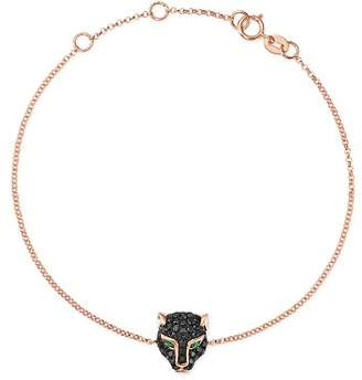Bloomingdale's Black Diamond & Emerald Panther Bracelet in 14K Rose Gold - 100% Exclusive
