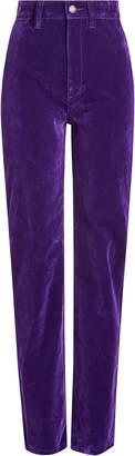 Marc Jacobs High Rise Velvet Disco Jeans